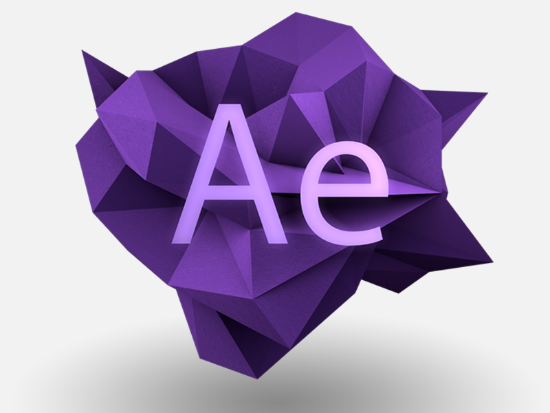 After Effects Icon Graphic Card After Effects Game Logo Design