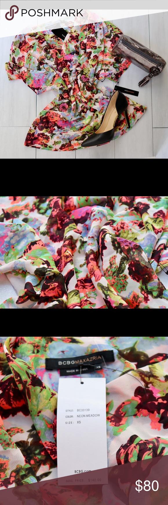 BCBG Maxazria Floral Top NWT BCBG Maxazria Floral Top NWT BCBGMaxAzria Tops