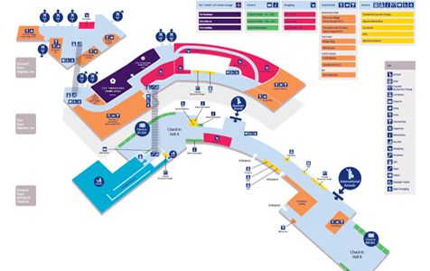 LeedsBradford AirportTerminal Map york transport Pinterest