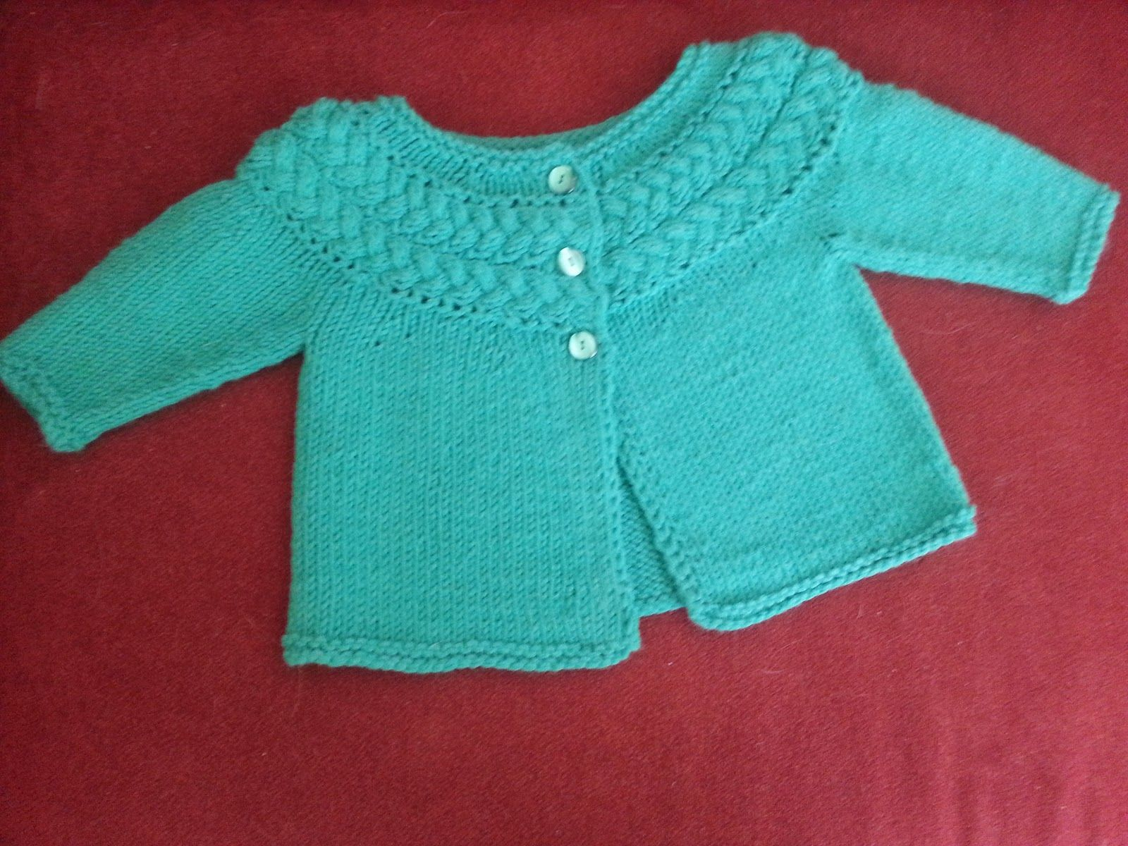 Modern Crafter Sideways Cable Yoke Baby Sweater Knitted