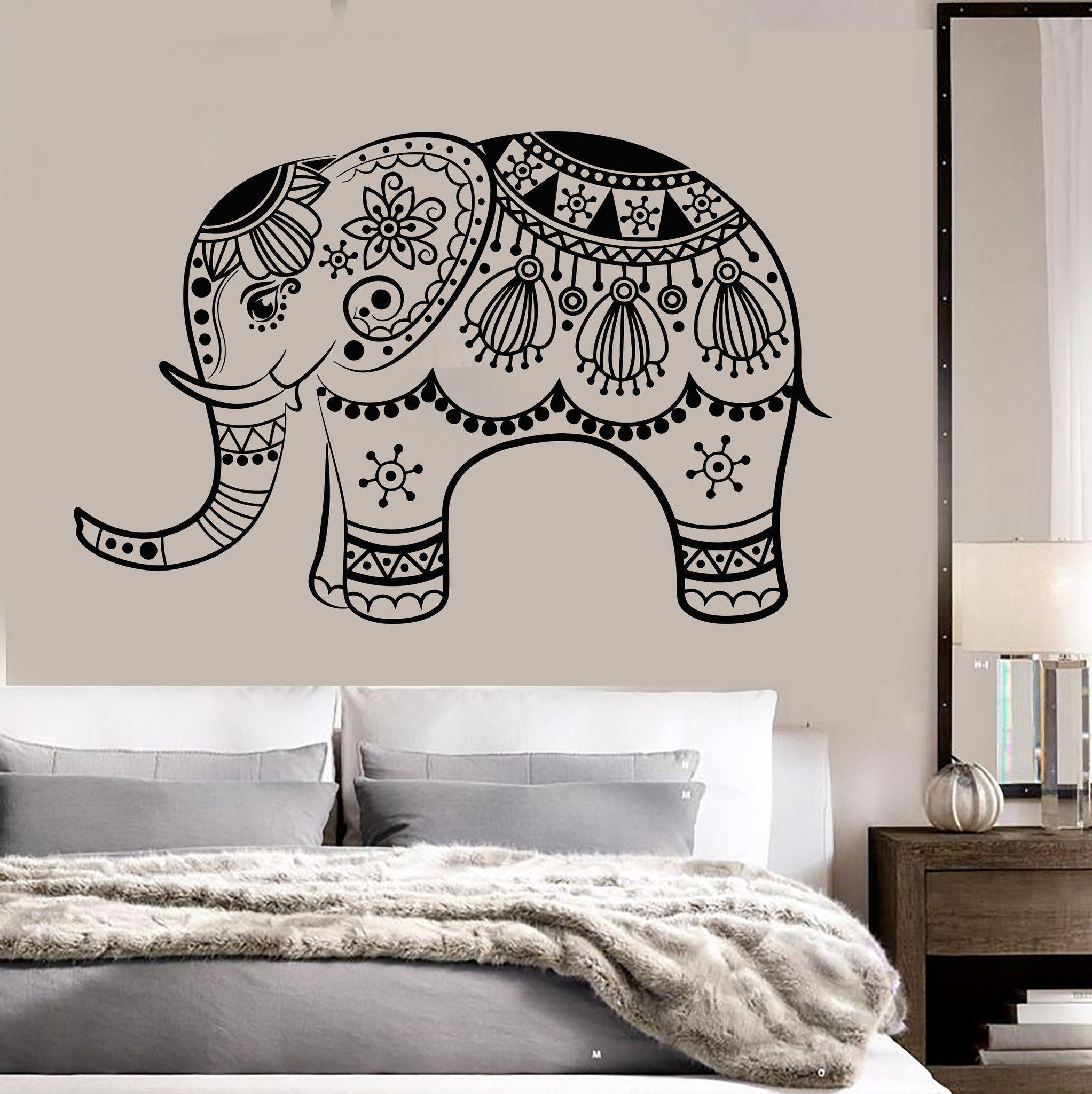Vinyl Wall Decal India Elephant God Hinduism Bedroom