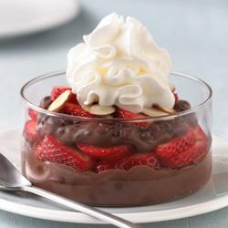 Strawberry Chocolate Pudding Parfairts.