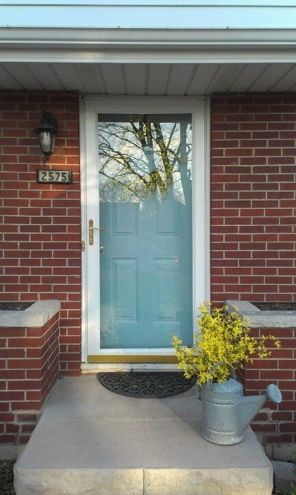 Door Colors For Brick Houses Brick House With Blue