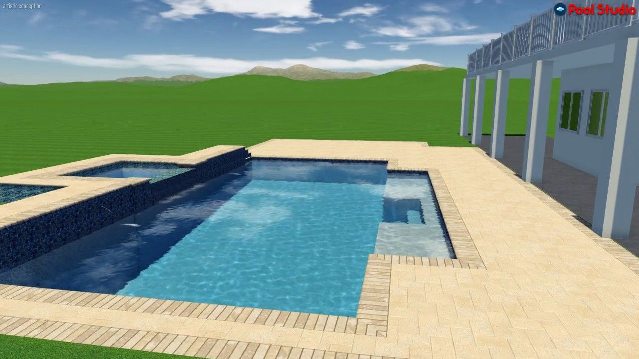 Pool Studio - 3D Swimming Pool Design Software. Designed and created ...