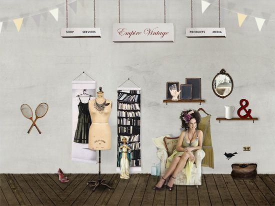 Textured website design example: Empire Vintage