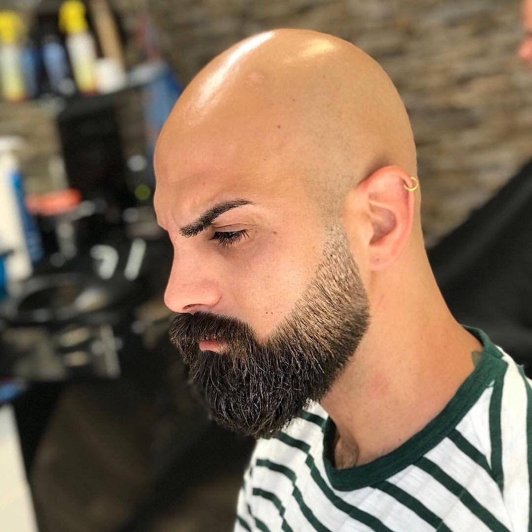Pin De Martin Acosta En Beards Hombres Calvos Con Barba Estilos De Barba Barba Sin Bigote