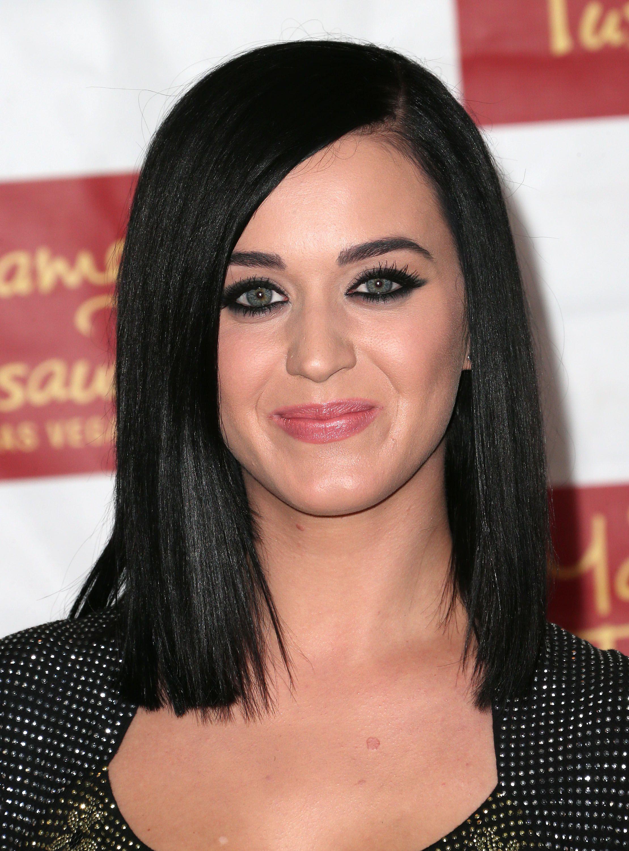 foto Katy Perry Black Sleek Long Straight Hairstyle