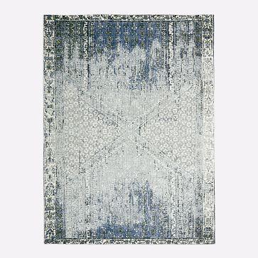 Distressed Ensi Rug in 2020 | Rugs, Blue stone, Mirror ...