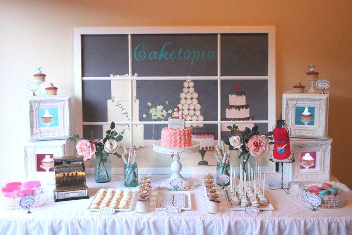 Sweet Surprise Guest Dessert Feature Amy Atlas Events Cupcake Party Baby Shower Dessert Table Dessert Table Backdrop