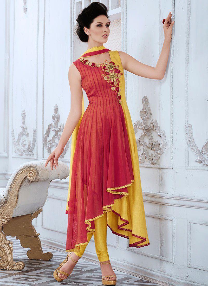 f311f5b238c Bold Kora Asymmetrical Anarkali Suit