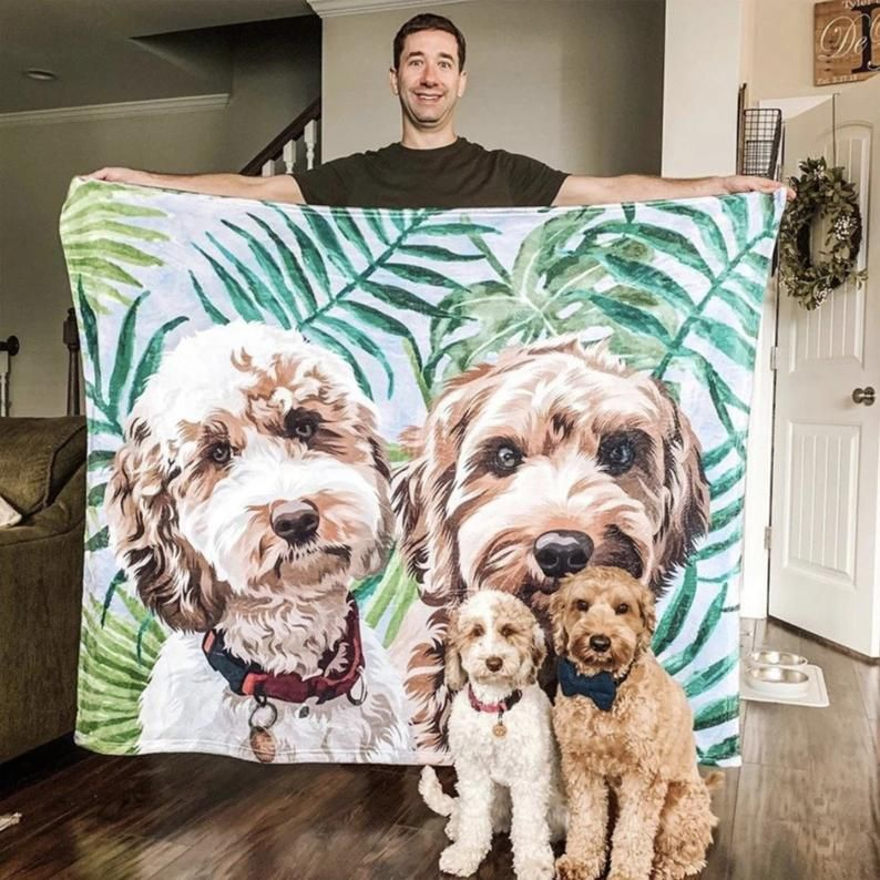 A Fabulous Birthday or Christmas Gift for Pet Lovers Any Pet Large or Small with One or More Pets Custom Pet Portrait from Your Own Photos