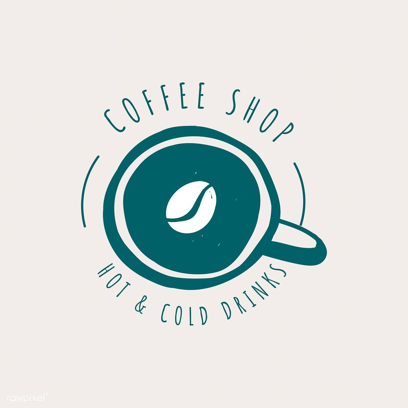 Coffee Shop Cafe Logo Vector Free Image By Rawpixel Com Cafe Logo Cafe Logo Design Coffee Shop Logo