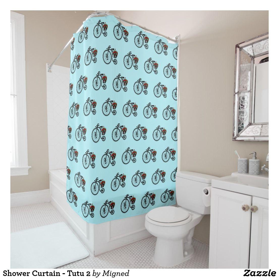 Romantic Vintage Flowers Bike Shower Curtain Zazzle Com
