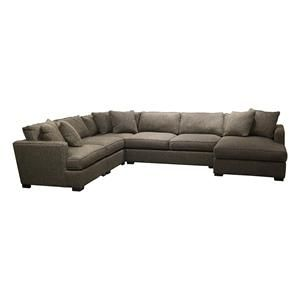 Bonsai 5 Piece Sectional In Charcoal Nebraska Furniture Mart