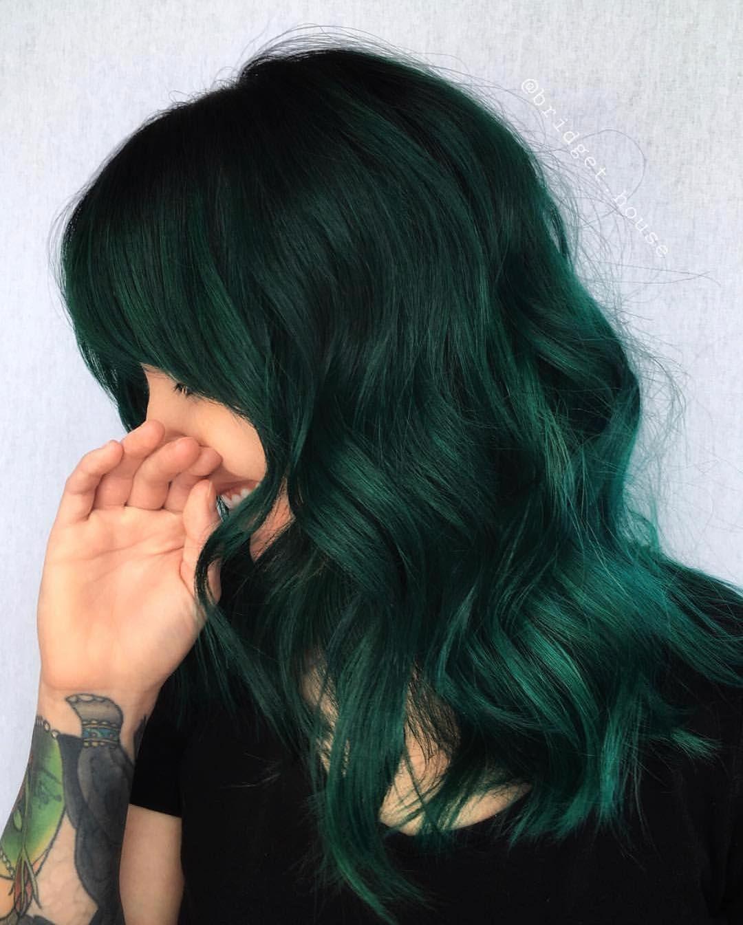 Hair Hairstyle 2019 Haircut Haircolor Dark Green Hair Green Hair Hair Styles