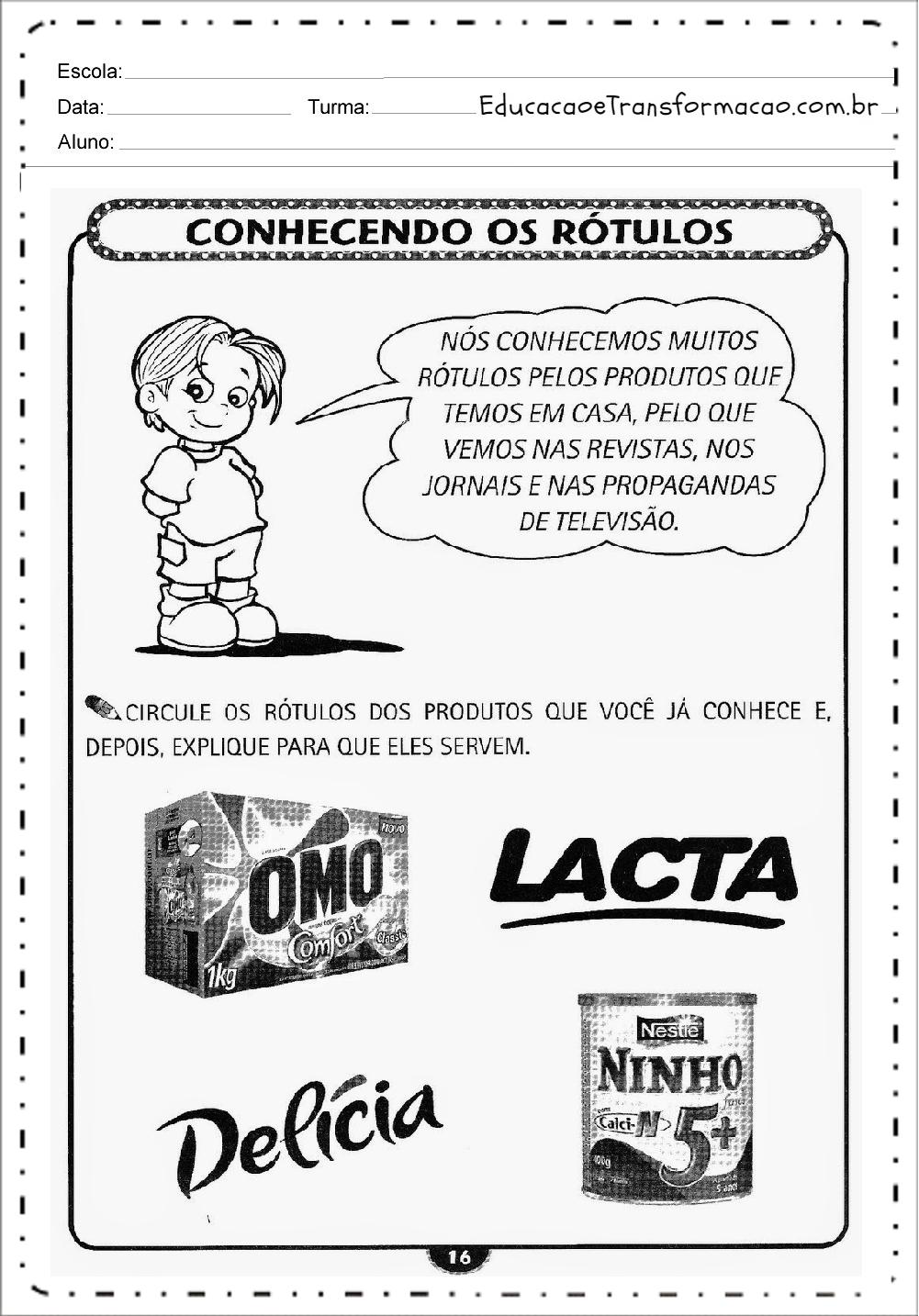 Populares Atividades para Educação Infantil para imprimir - Atividades  HN08