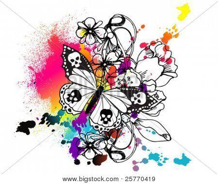 2c87af005 paint splatter tattoo | Butterfly Tattoo Stock Vector & Stock Photos |  Bigstock