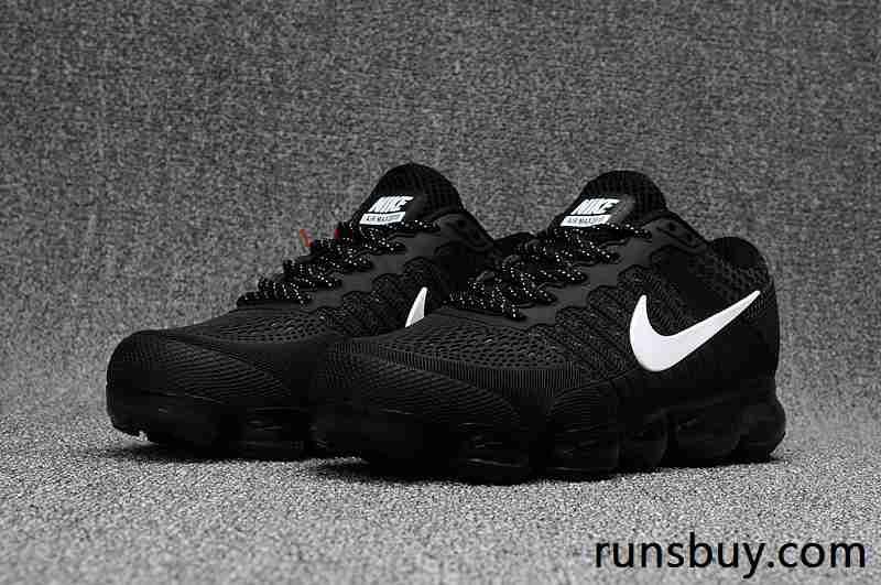 dca181be0ecd New Coming Nike Air VaporMax 2018 KPU Black White Women Men (36-47 ...