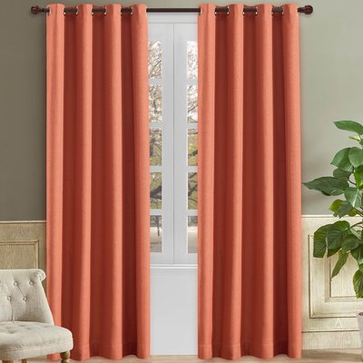 Wrought Studio Solway Solid Room Darkening Thermal Grommet Single Curtain Panel Set Of 2 Size Per Panel 52 W X