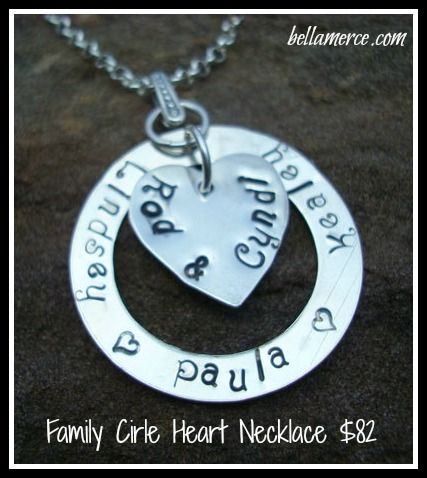 The family circle necklace. Great gift if you are thinking ahead for Easter or Mother's Day!