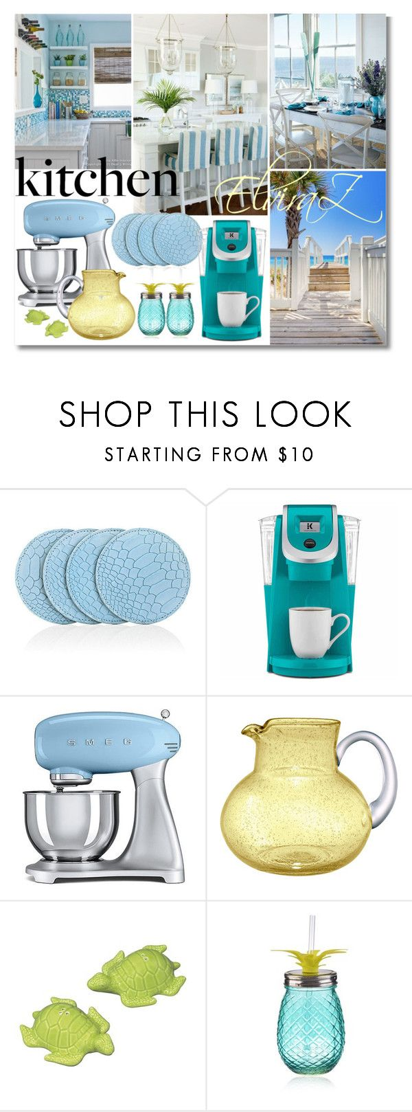 """Dream Kitchen"" by elza76 on Polyvore featuring interior, interiors, interior design, дом, home decor, interior decorating, Barneys New York, Keurig, Smeg и Iris"