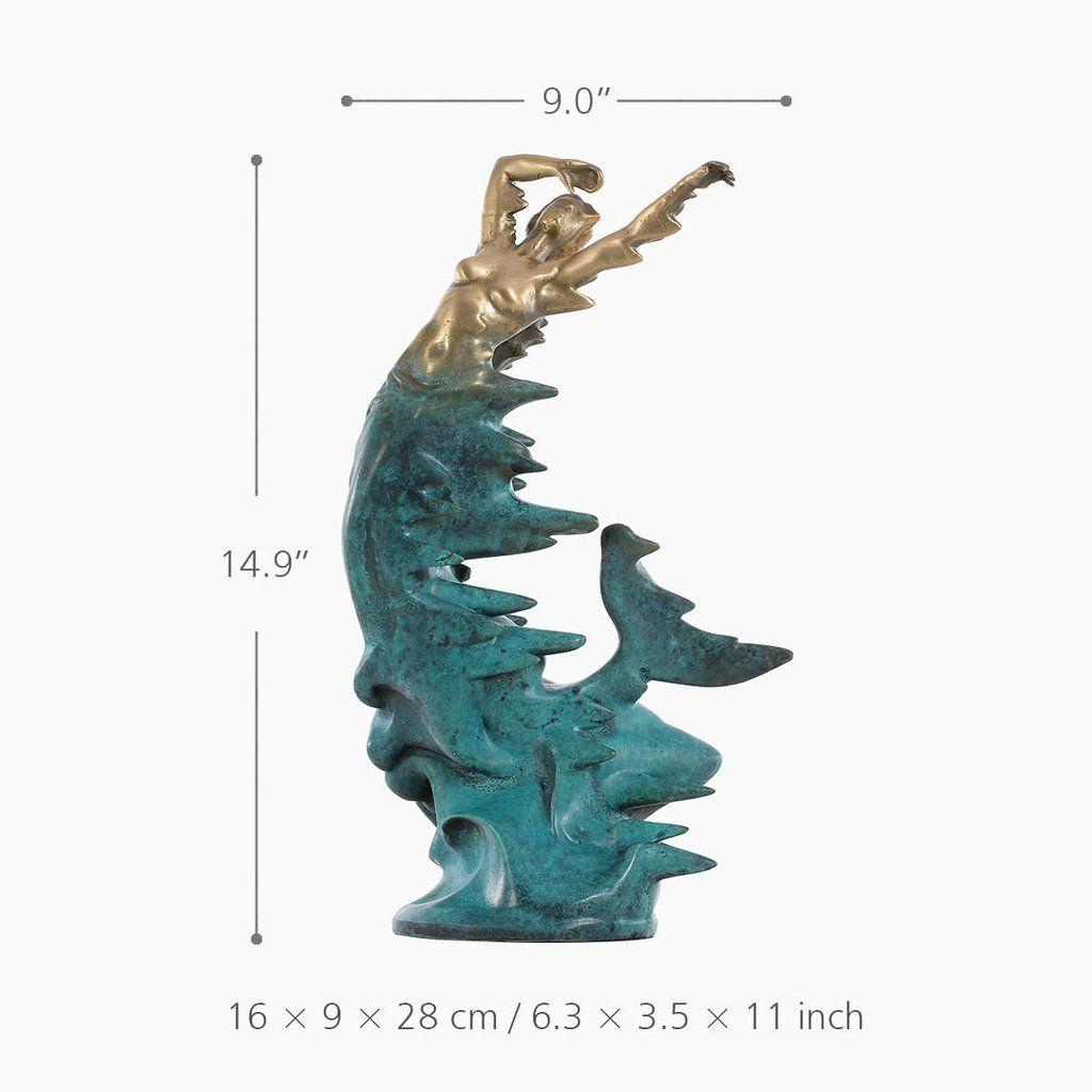 Little Mermaid Statue and Sculpture Mermaid Artwork Meerjungfrau ...