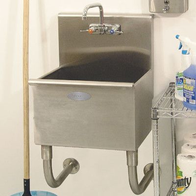 A Line By Advance Tabco 22 X 20 Wall Mounted Laundry Sink Utility Sink Laundry Room Sink Sink
