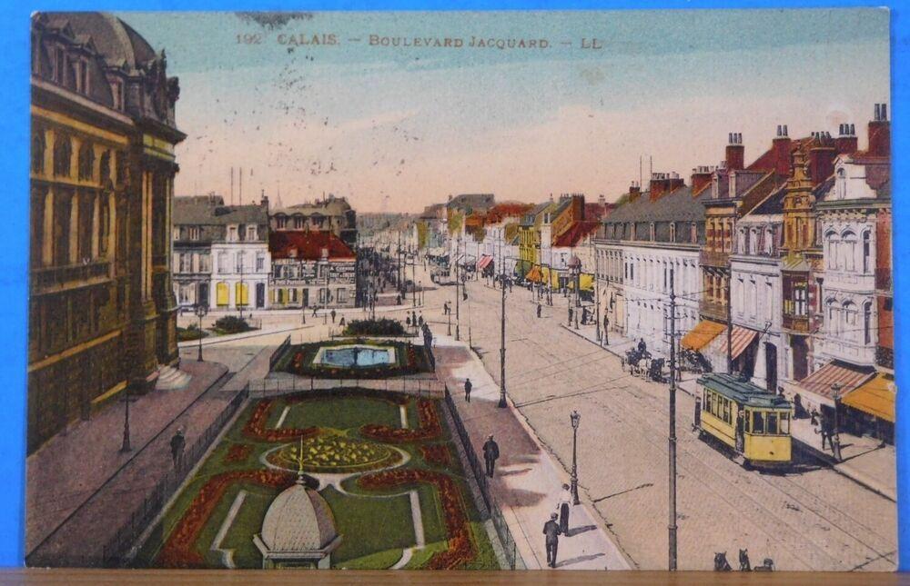 Details about Postcard Calais Boulevard Jacquard France