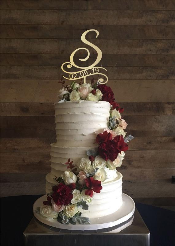 H Kuchendeckel Hochzeitstorte Topper Kuchendeckel für Hochzeit | Etsy   – Wedding Decorations