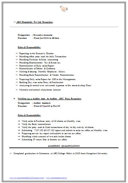 B Com Graduate Resume Student Resume Resume Resume Format