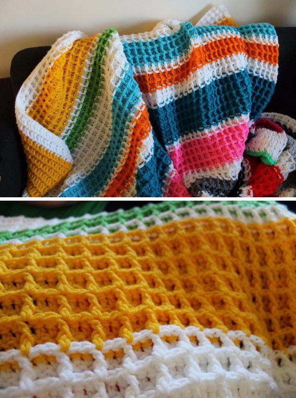 Waffle Stitch Crochet Free Crochet Pattern. | Crochet | Pinterest ...