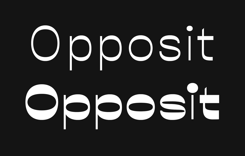Good Type: Opposit | Graphic Design | Typografia ja