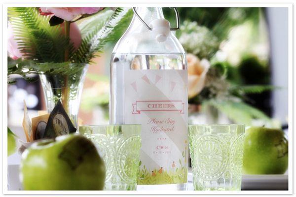 Last Minute Wedding Ideas: Personalized Water Bottles