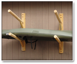 Two Place Wall Mounted Log Kayak Rack & Two Place Wall Mounted Log Kayak Rack | try this | Pinterest | Kayak ...