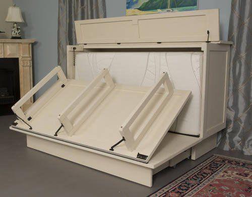 Best Essex Queen Murphy Cabinet Bed White By Arason Furniture 400 x 300