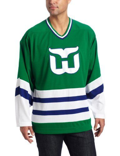 NHL Men s Hartford Whalers Team Classic Jersey (Green 67ac372ff