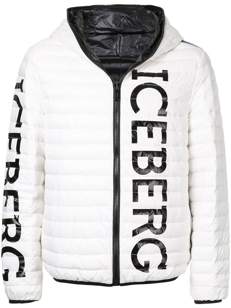 Iceberg Padded Logo Jacket Modesens Jackets Winter Jackets Athletic Jacket [ 1067 x 800 Pixel ]