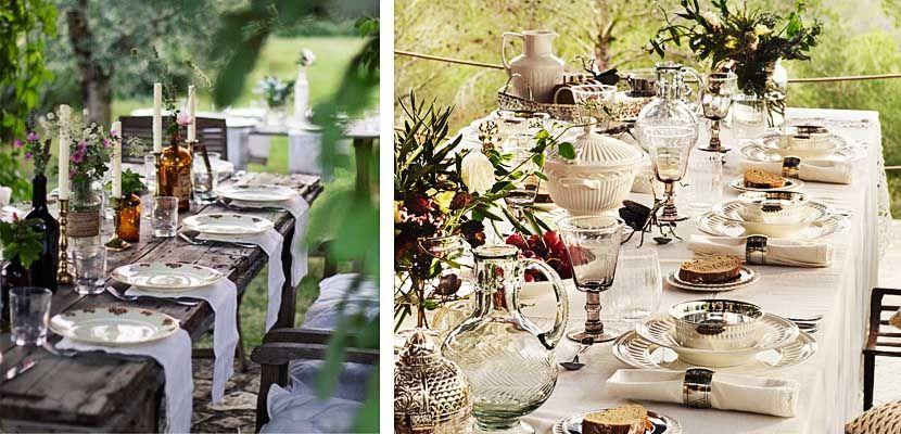 Propuestas para decorar una mesa campestre mesa de campo - Mesas de campo ...