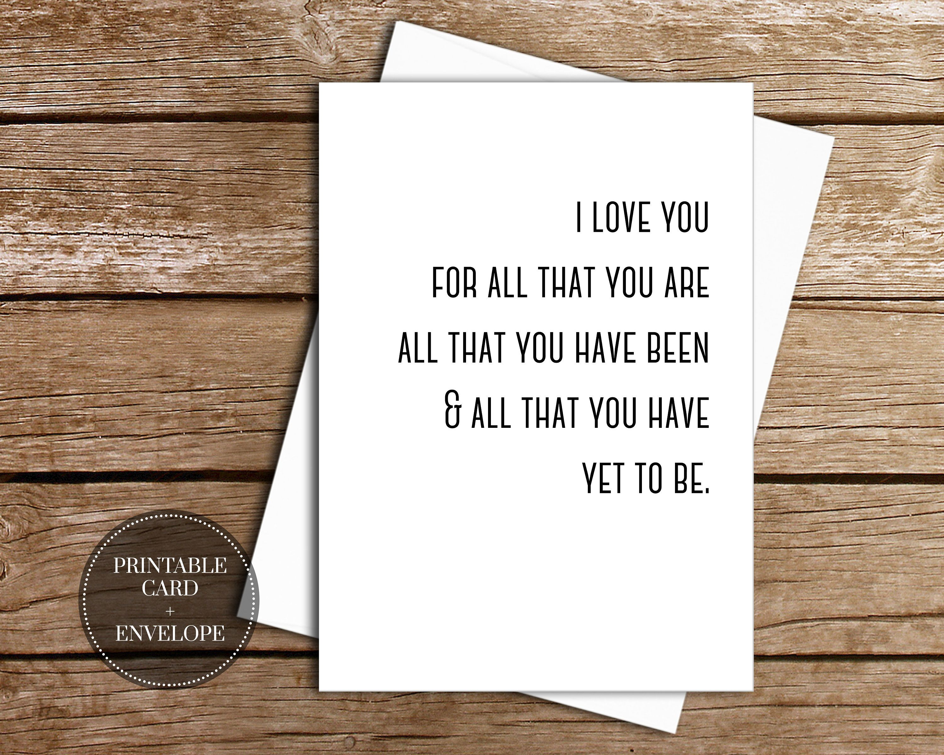 photograph regarding Printable Anniversary Cards for Husband known as PRINTABLE Anniversary Card for Partner Prompt Obtain // I