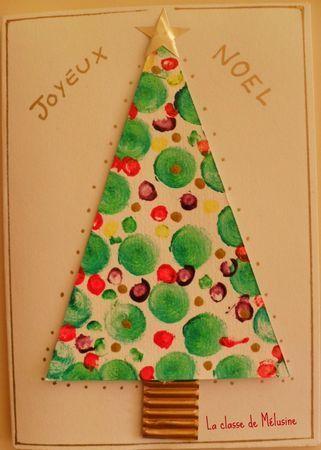 carte Noël inspirée d'Angela Vandenbogaard | Carte noel maternelle