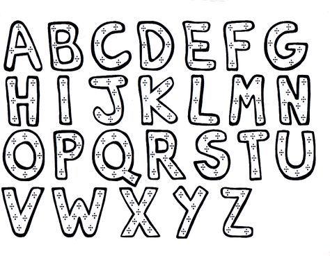 Letras Para Colorear E Imprimir   AZ Dibujos para colorear