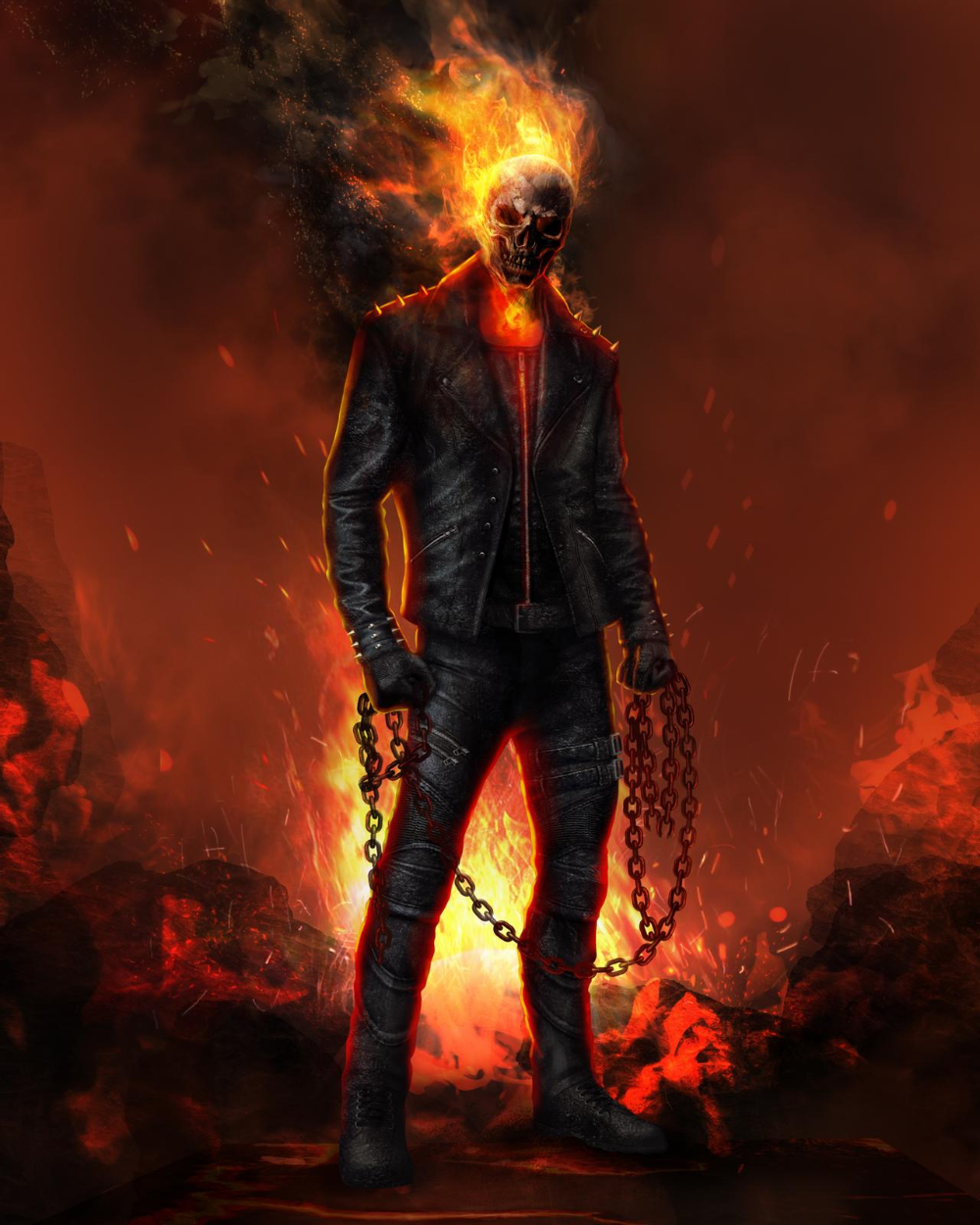 Ghost Rider Concept Art By Dfellow69 On Deviantart In 2021 Ghost Rider Ghost Rider Wallpaper Ghost Rider Tattoo