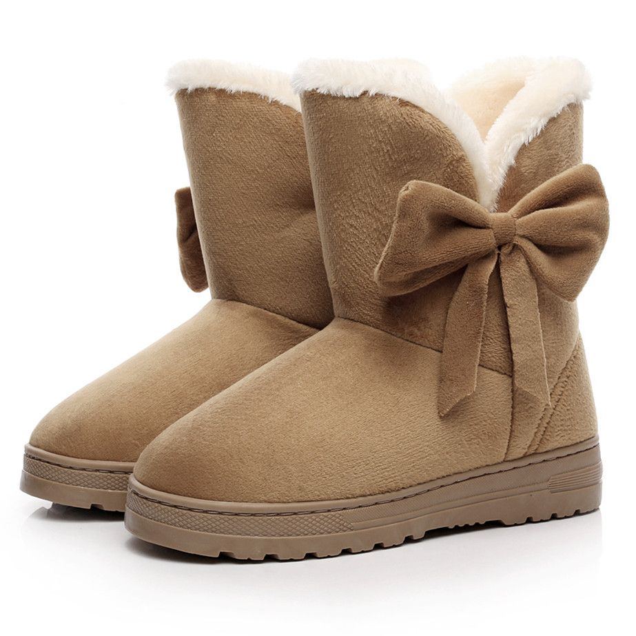 2016 NEW Women Boots Warm Winter Snow Boots Suede Ankle