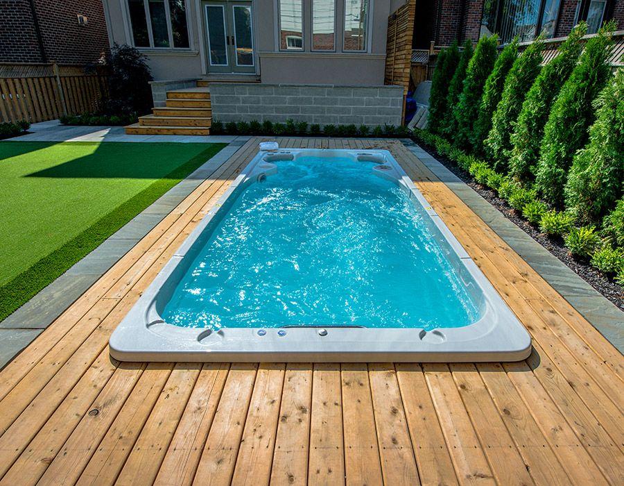 Pool Backyardideas Smallbackyard Smallpools Backyard Smallspace Landscapedesign Landscape Pools For Small Yards Endless Pool Backyard Endless Pool