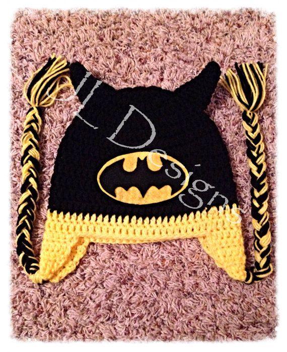 Batman Hat | CROCHE - BEBÊ GORROS DIVERTIDOS | Pinterest | Gorros ...