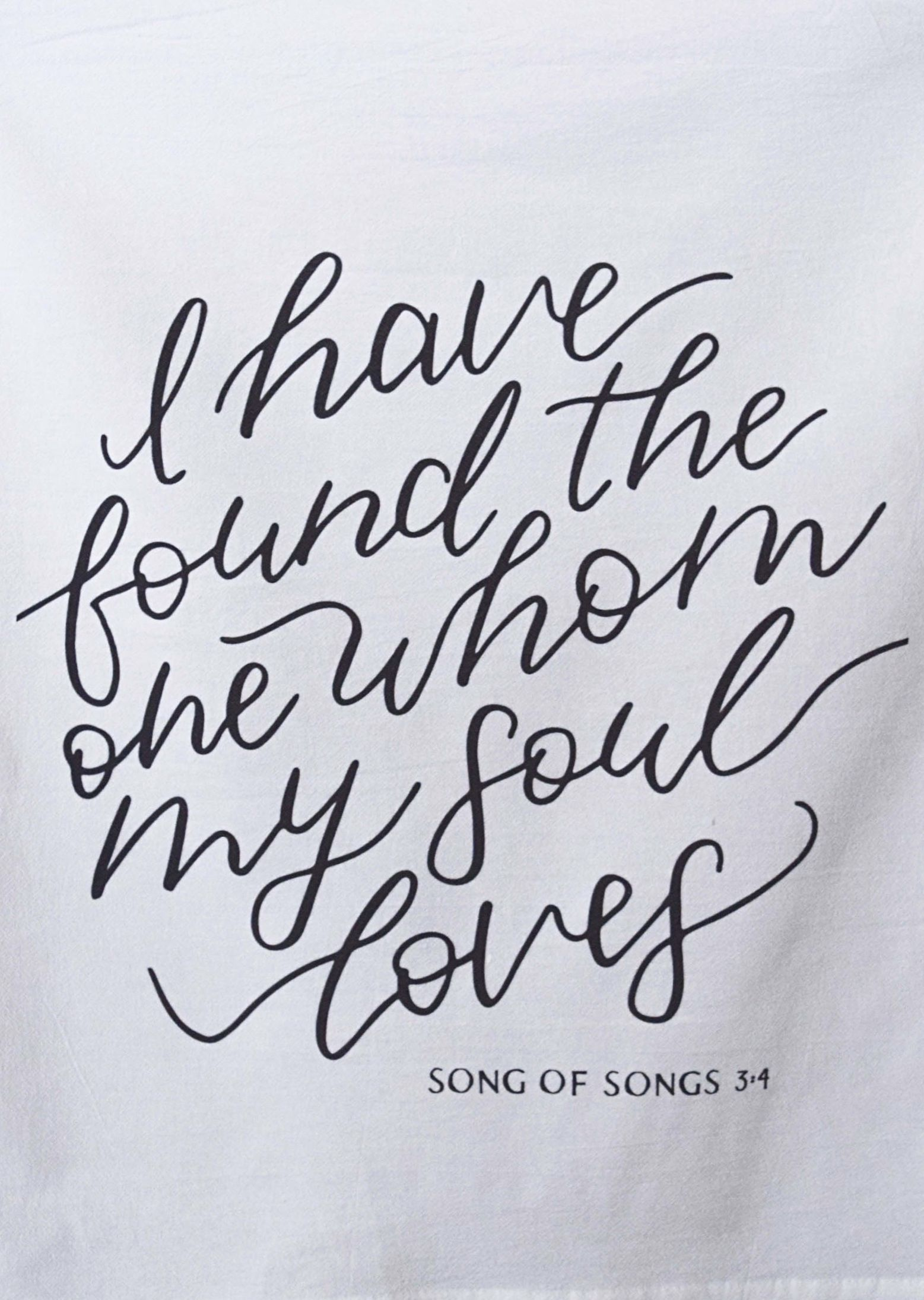 I Have Found the One Whom My Soul Loves, Song of Solomon