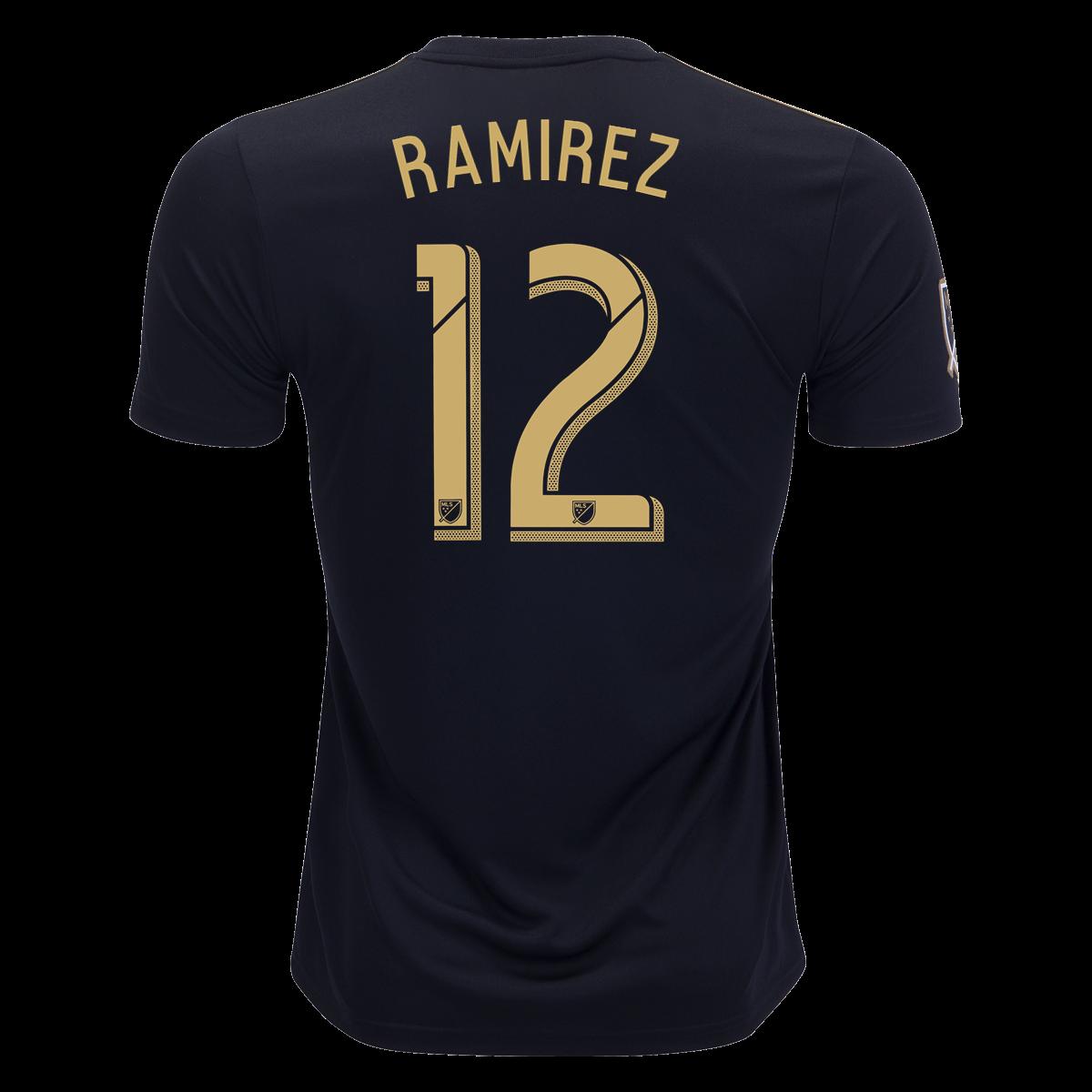 adidas Christian Ramirez LAFC Home Jersey 2019 xl