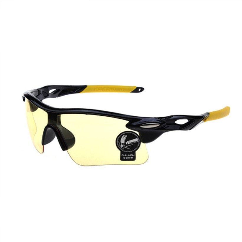 OCULOS UV400 Mirrored Wrap-Around Sport Sunglasses