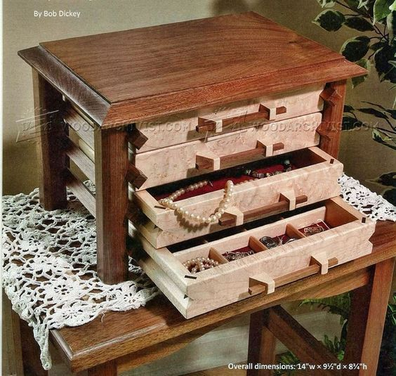 2194 Jewelry Box Plans Woodworking Plans nifty projects for