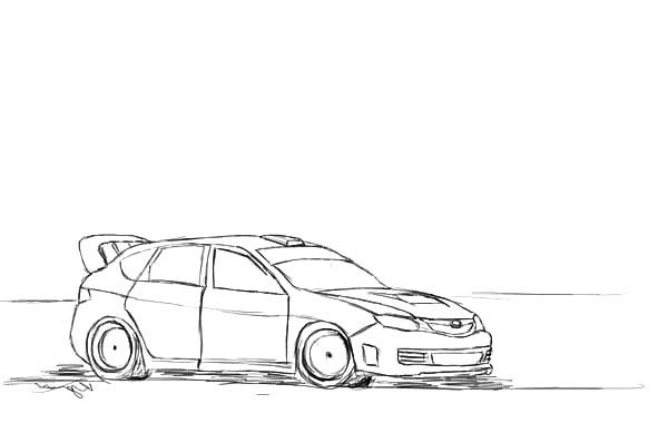 Drifting Cars Ken Block Coloring Pages